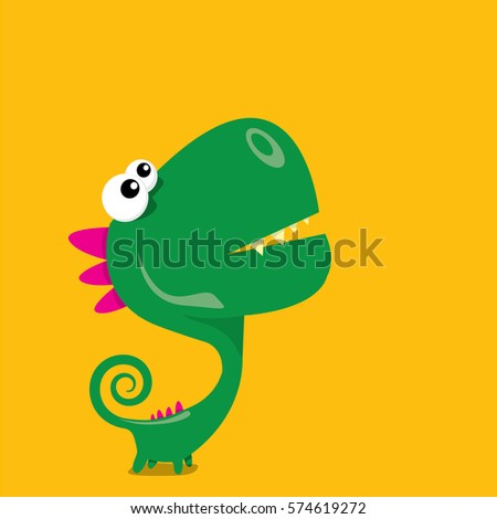 vector cartoon funny green