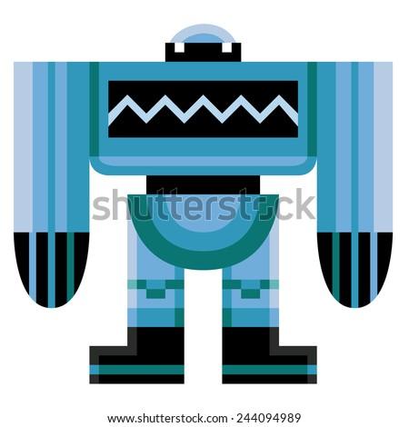vector cartoon funny robot