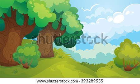 vector cartoon game landscape
