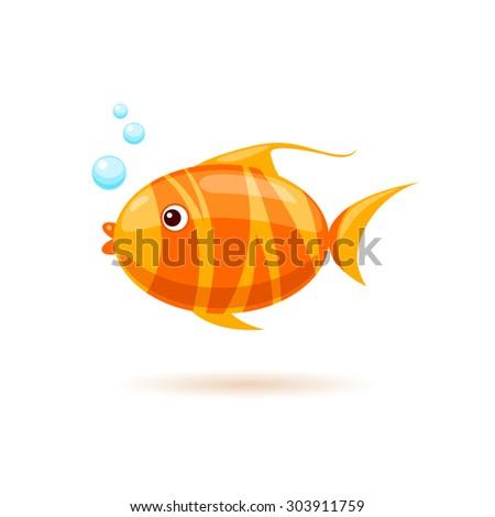 vector cartoon goldfish image