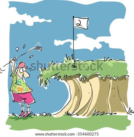 vector cartoon golf