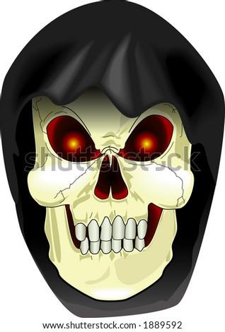 vector cartoon graphic depicting the Grim Reaper (concept: Halloween)