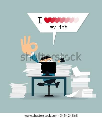 vector cartoon happy