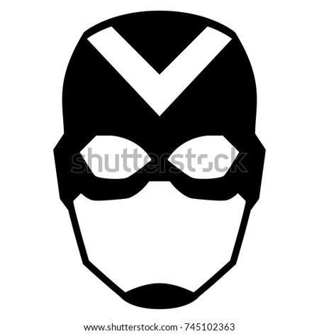 vector cartoon hero mask
