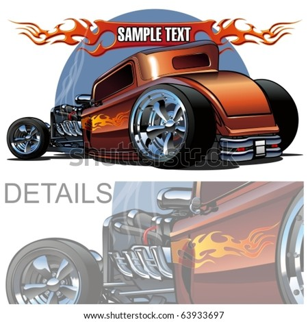 vector cartoon hot rod more