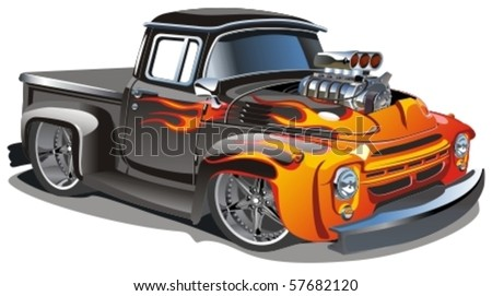 vector cartoon hot rod