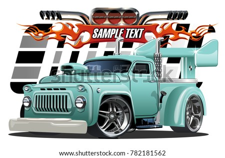 Stock Photo Vector cartoon hotrod. Available EPS-10 separated by groups and layers with transparency effects for one-click repaint