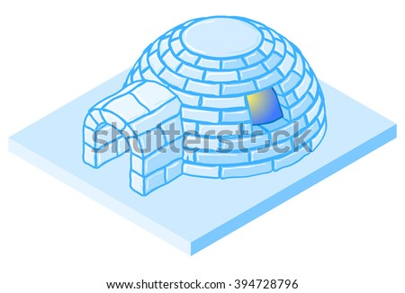 vector cartoon igloo ice house