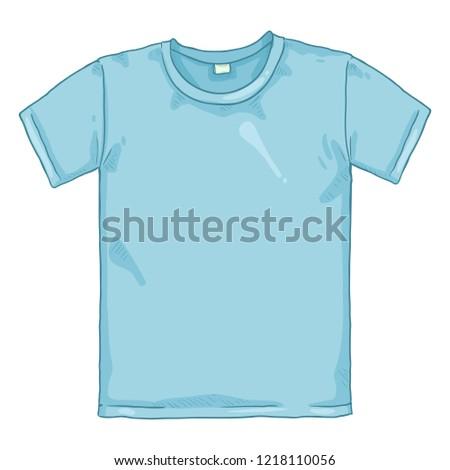 Vector Cartoon Illustration - Blue T-shirt
