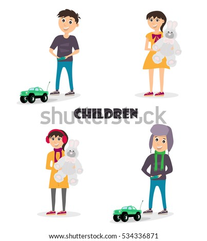 vector cartoon illustration