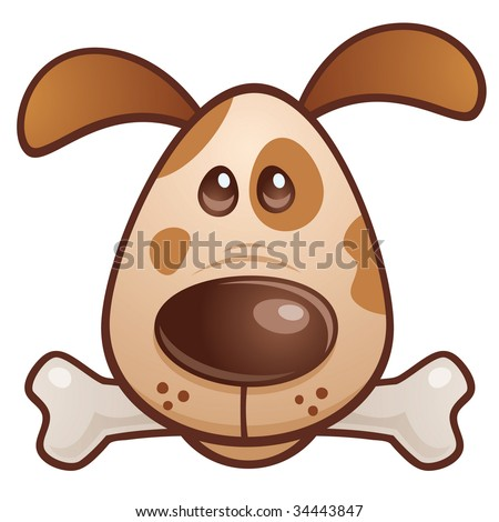 pictures of cartoon dog bones. stock vector : Vector cartoon