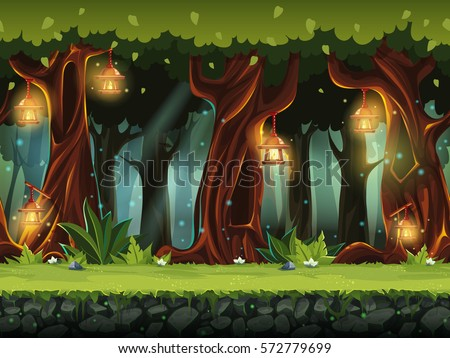 stock-vector-vector-cartoon-illustration-of-the-fairy-forest-for-the-game-ui-for-print-create-videos-or-web