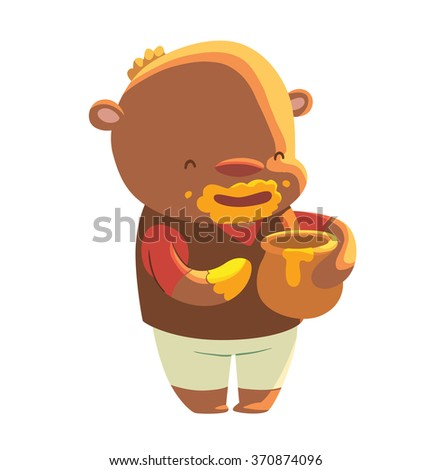 vector cartoon image of a cute