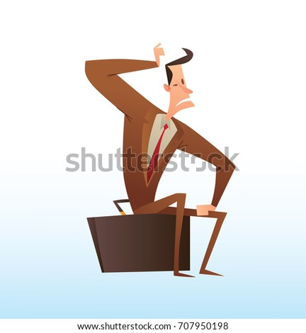 vector cartoon image of a funny