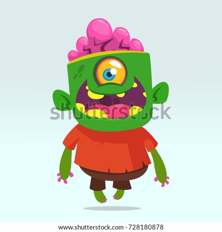vector cartoon image of a funny