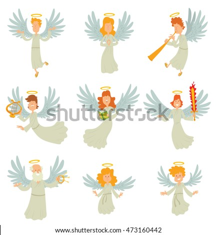 vector cartoon image of a set