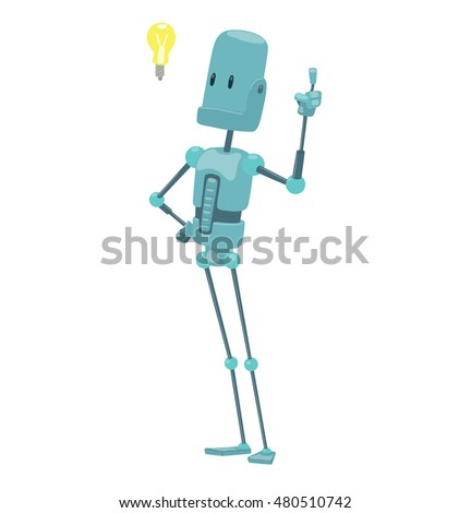 vector cartoon image of funny