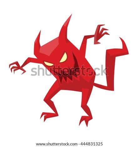 vector cartoon image of funny