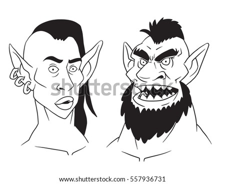 vector cartoon image of goblin