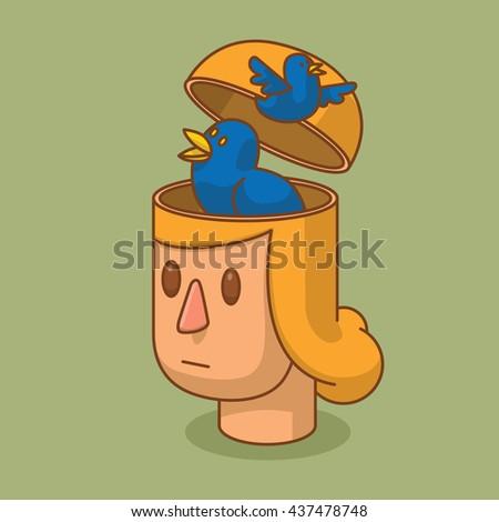 vector cartoon image of the