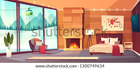 vector cartoon interior of