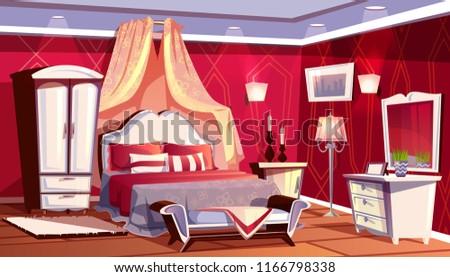 vector cartoon interior of rich