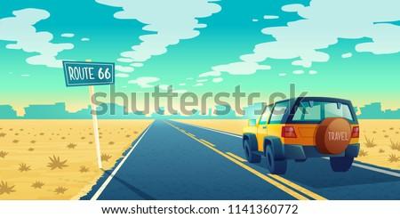 vector cartoon landscape of