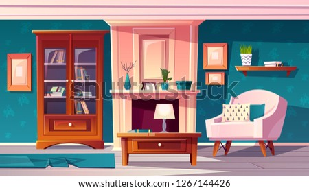 vector cartoon luxury cabinet