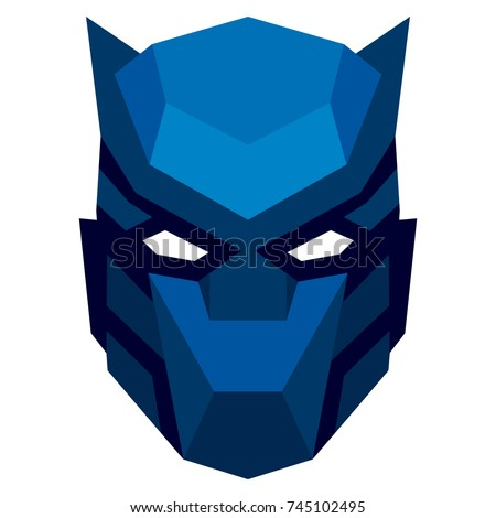 vector cartoon mask isolated on