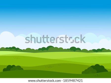 vector cartoon meadow landscape