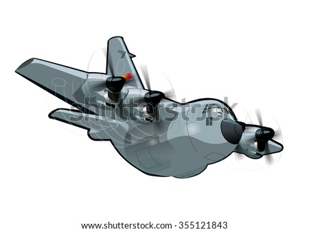 vector cartoon military cargo
