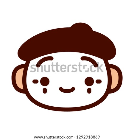 Vector Cartoon Mime Emoji Icon Isolated