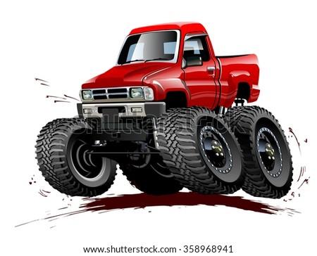 vector cartoon monster truck