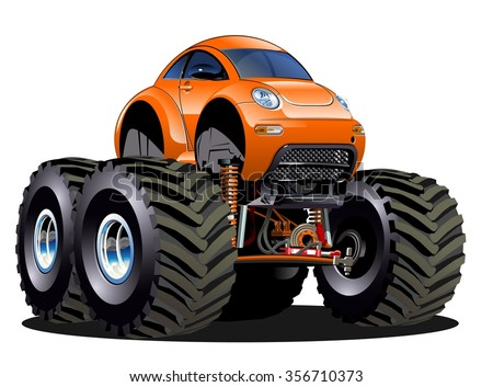 stock vector vector cartoon monster truck one click repaint available eps vector format separated by groups 356710373 - Каталог — Фотообои «Для детской»