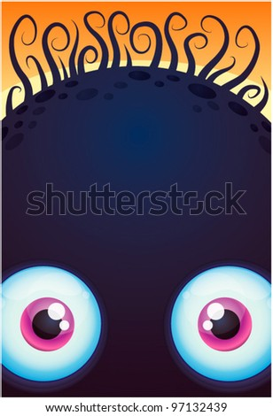 vector cartoon monster with big eyes