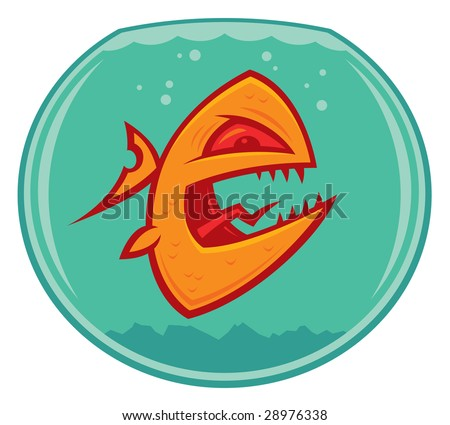 goldfish cartoon image. stock vector : Vector cartoon