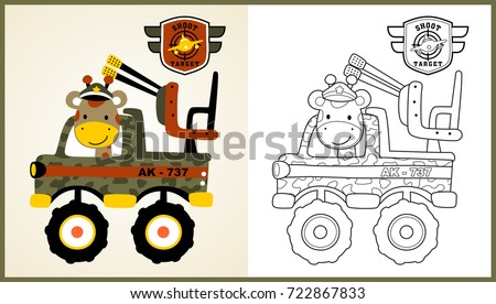 vector cartoon of animal