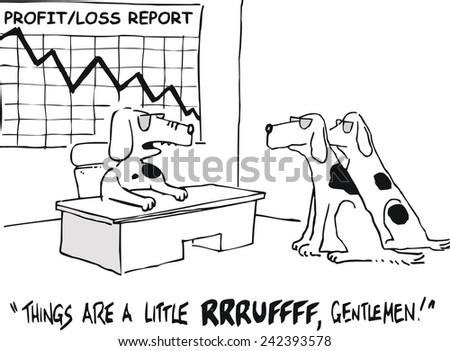 vector cartoon of business