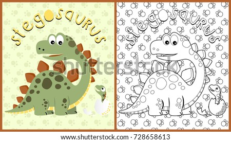 vector cartoon of dinosaurs on