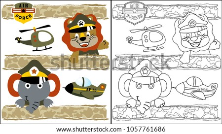 vector cartoon of funny animals