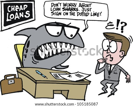 Loan Cartoons Vector Cartoon of Loan Shark