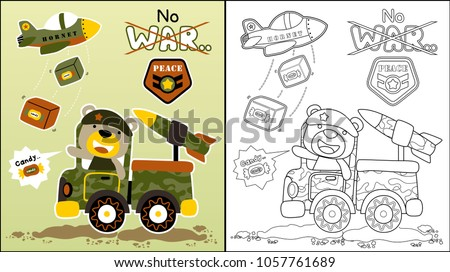 vector cartoon of playing war