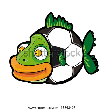 vector cartoon of soccer ball
