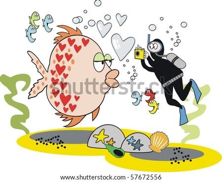 vector cartoon of underwater