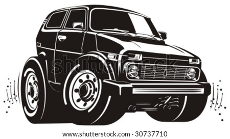 vector cartoon off road vehicle