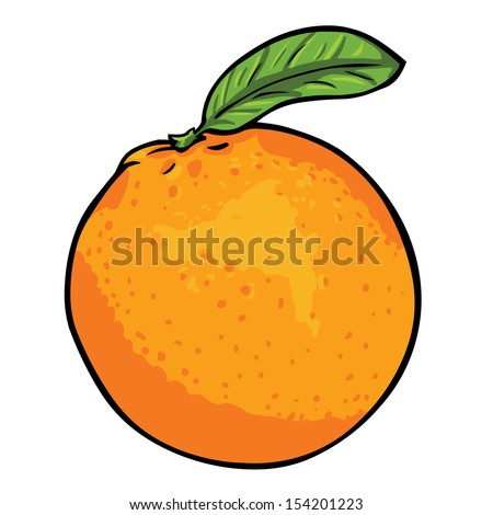 vector cartoon orange