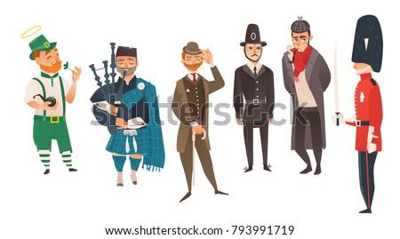 vector cartoon people in united