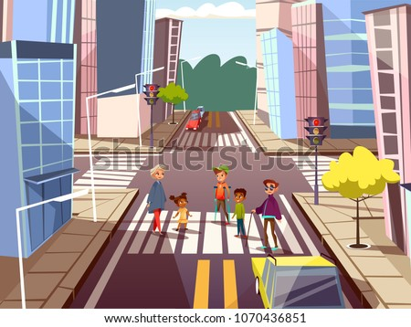 vector cartoon people on