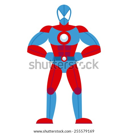 vector cartoon red and blue