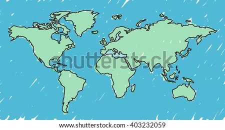 Sketch world map vectors download free vector art stock graphics vector cartoon scetch world map gumiabroncs Images